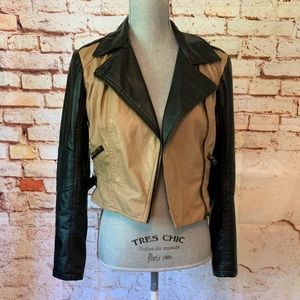 Red Snap Jackets & Coats - Faux Leather Moto Jacket By Red Snap